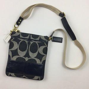 COACH Denim Collection Logo Crossbody Bag Purse